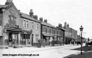 Burscough Bridge village, F Eastwood's, c1920 (1) copy 1