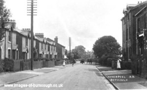 Liverpool Road South, Burscough Town c1900 (2) copy 1
