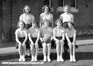 Schools, Net Ball Team 1954-55 Cw